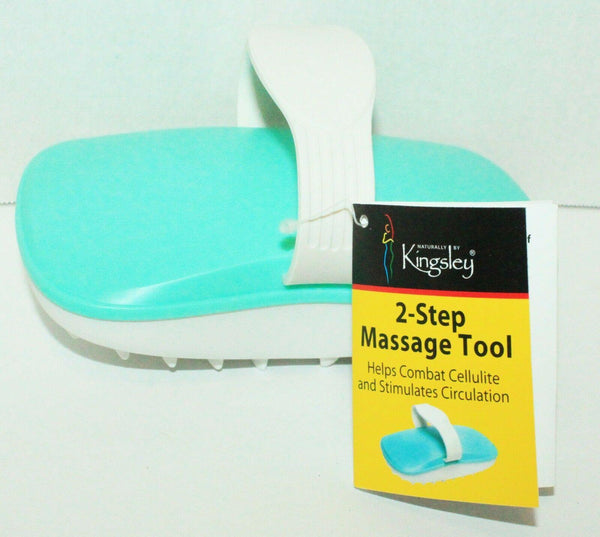KINGSLEY TWO-STEP MASSAGE BEAUTY TOOL AND CELLULITE REMOVER BRUSH NEW