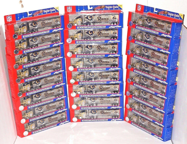 24 PCS - ONE CASE - NFL RAMS FOOTBALL 1:80 DIECAST TRUCK TOY VEHICLE FLEER 2005 - EZ Monster Deals