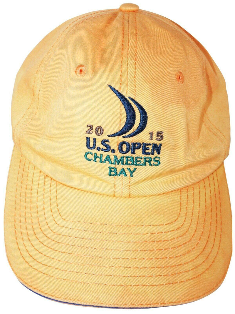 PGA TOUR US OPEN GOLF HAT - ORANGE SLOUCH CAP AUTHENTIC USGA USED 2015 - EZ Monster Deals