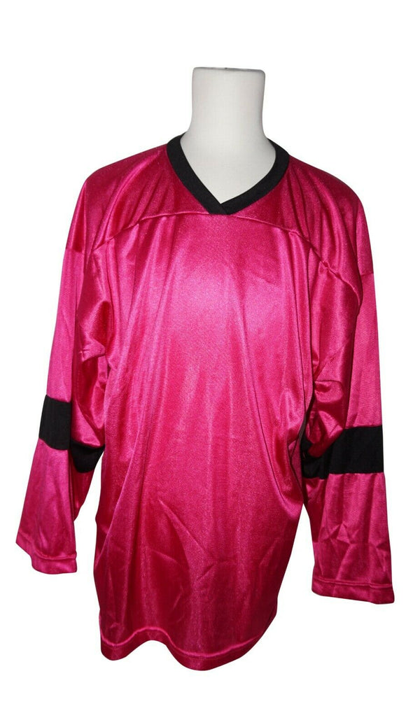 XTREME BASICS SR M HOCKEY DARK PINK JERSEY - ADULT MEDIUM ICE OR ROLLER USED - EZ Monster Deals