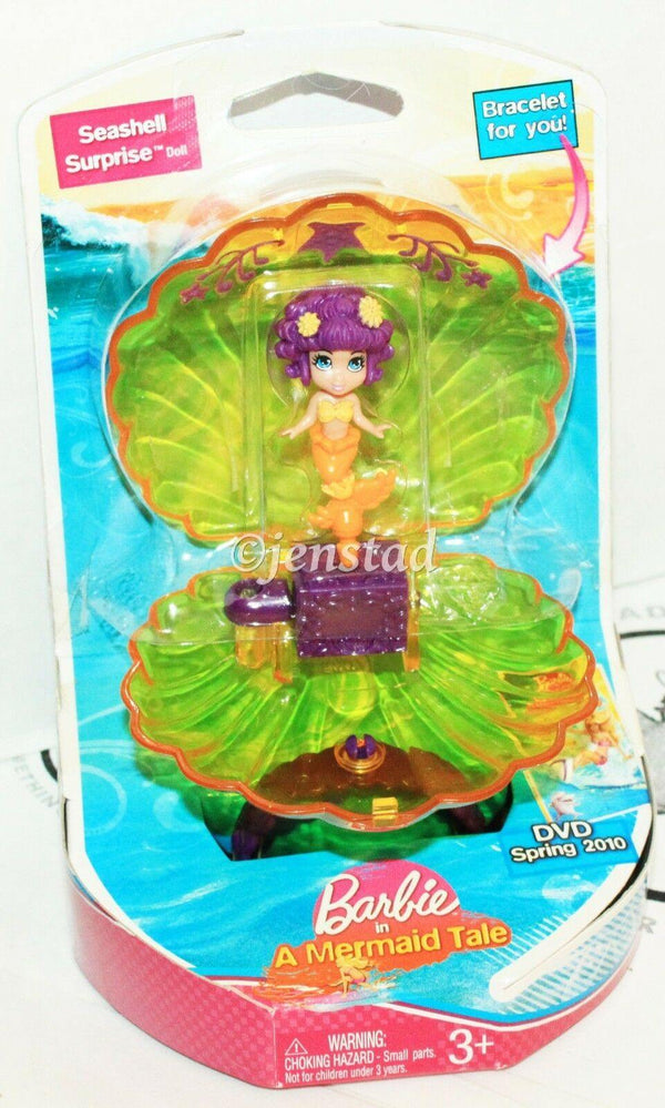 SEASHELL SURPRISE MERMAID BRACELET BARBIE A MERMAID TALE TOY FIGURE 2009 STYLE#2 - EZ Monster Deals