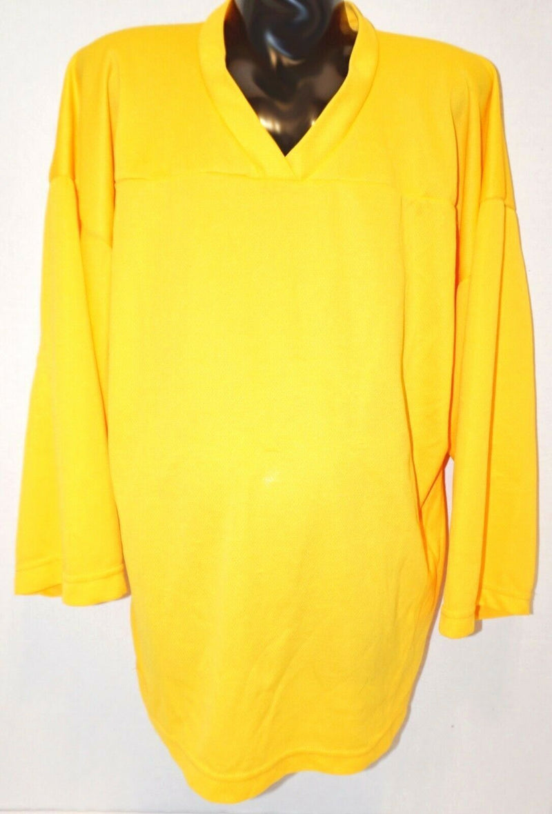 YOUTH LARGE - XTREME BASICS YELLOW ICE OR ROLLER HOCKEY LIGHT JERSEY USED - EZ Monster Deals