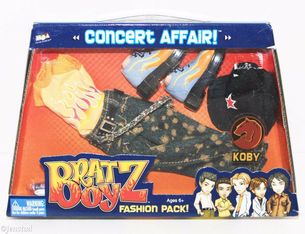 KOBY BRATZ BOYZ CONCERT AFFAIR ONE FASHION PACK BRAT BOY CLOTHING OUTFIT 2004 - EZ Monster Deals