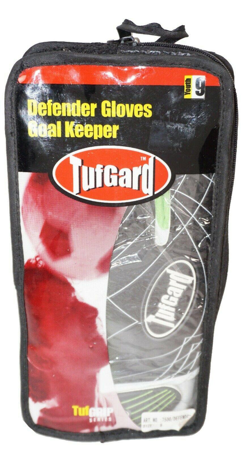 TUFGARD FÙTBOL GOALKEEPER DEFENDER GOALIE GLOVE - SOCCER SIZE YOUTH 9 NEW - EZ Monster Deals