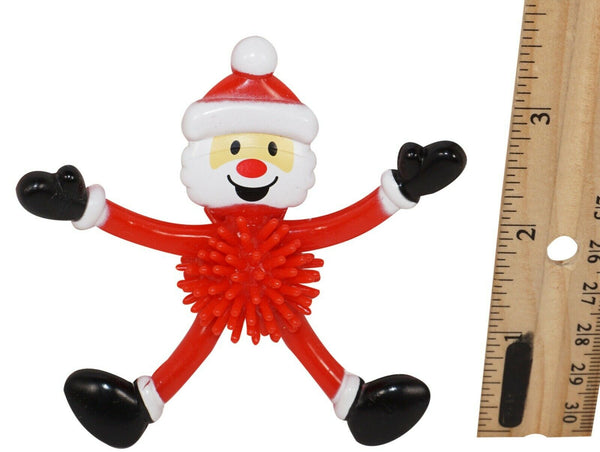 "CHRISTMAS BENDY SANTA W/ PORCUPINE BALL - 3.5"" MINI HOLIDAY XMAS TOY FIGURE USED - EZ Monster Deals"