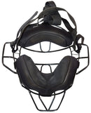 PRO-NINE TRADITIONAL STYLE UMPIRE BASEBALL FACE BLACK CAGE MASK SR ADULT USED - EZ Monster Deals