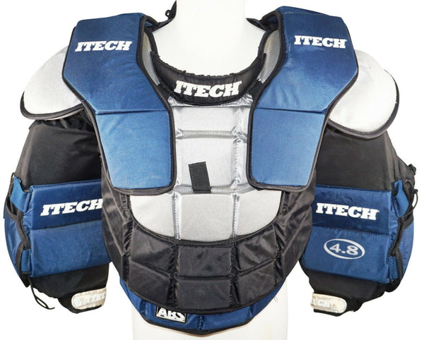ITECH 4.8 GOAL JUNIOR LARGE - GOALIE CHEST & ARM HOCKEY PAD JR PROTECTOR USED - EZ Monster Deals