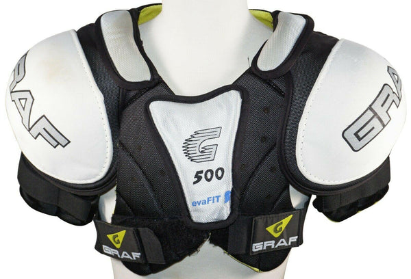 GRAF G500 EVAFIT CHEST S/M 500 SERIES SHOULDER PADS - ICE HOCKEY SR PLAYERS USED