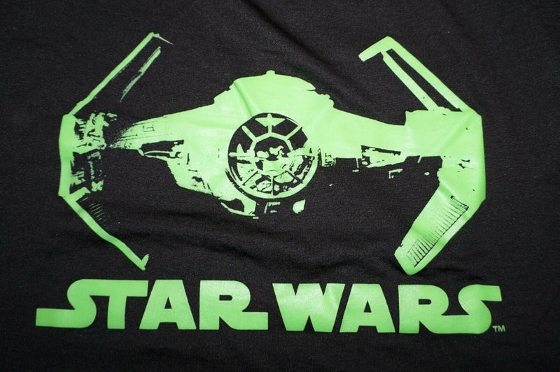 Star Wars Darth Vader Tie Fighter Tee Shirt - Short Sleeve Black T-shirt 2XL