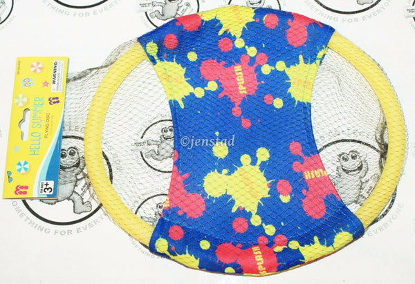 "GENERIC BLUE RED YELLOW PLASTIC FOAM FLYING 11"" DISC RING TOY GAME FUN OUTDOORS"