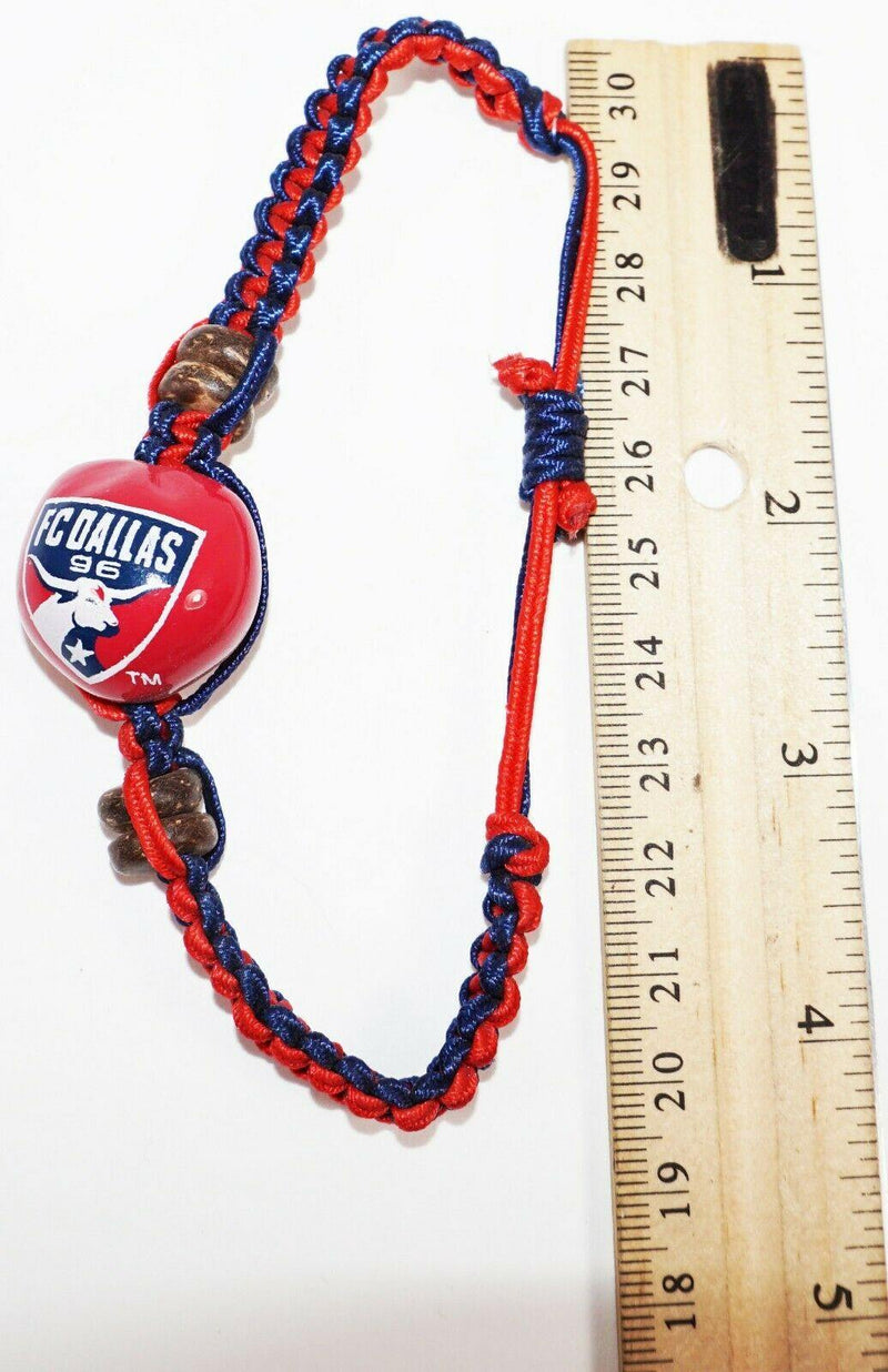 FC DALLAS MLS - SINGLE KUKUI NUT + MACRAME BRAID BRACELET SOCCER FUTBOL NEW - EZ Monster Deals