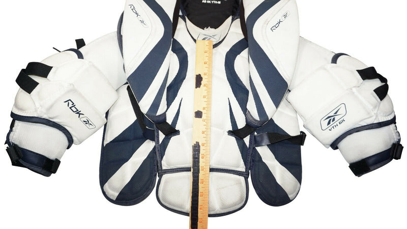 REEBOK RBK AB 6K YOUTH MEDIUM - GOALIE CHEST & ARM HOCKEY PAD VINTAGE USED-EZ Monster Deals