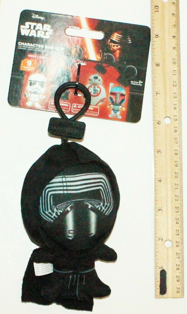 "KYLO REN DISNEY STAR WARS FORCE AWAKENS 5.5"" PLUSH TOYS BAG CLIP-ON SERIES 1 NEW - EZ Monster Deals"