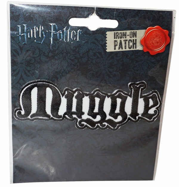 "HARRY POTTER IRON-ON PATCH - MUGGLE EMBROIDERED APPLIQUE 4"" NEW 2017 - EZ Monster Deals"
