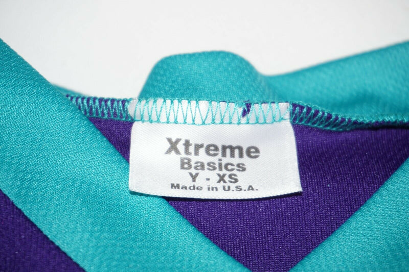 XTREME BASICS YTH XS HOCKEY GREEN PURPLE JERSEY - YOUTH XSMALL ICE ROLLER USED - EZ Monster Deals