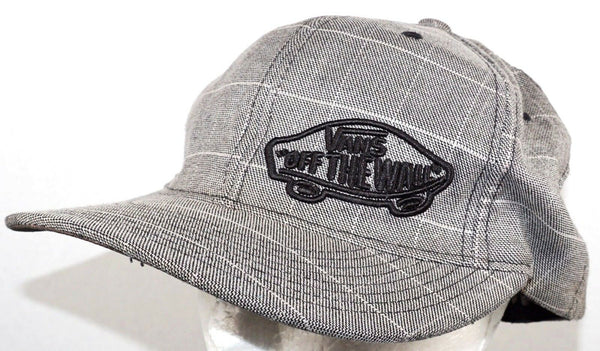 VANS OFF THE WALL SKATEBOARDING THEME - BASEBALL CAP HAT PINSTRIPE USED 2010