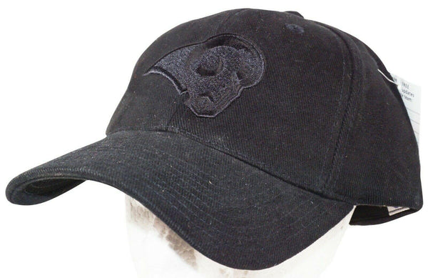LA LOS ANGELES RAMS - NFL BLACK TONE TONAL EMBOSS LOGO CAP HAT NEW-EZ Monster Deals