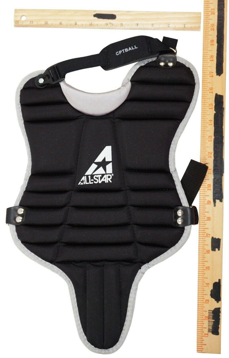 "ALL-STAR LGTBALL YOUTH 5-7 YR - 9.5"" KIDS TEE BALL BASEBALL CHEST GUARD PAD USED - EZ Monster Deals"
