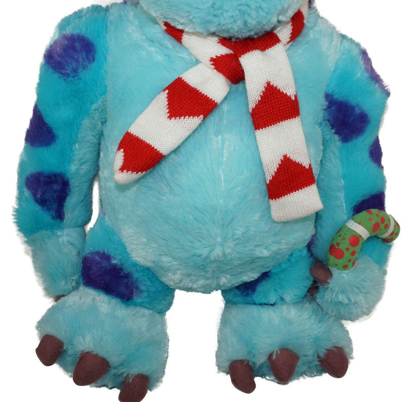 "SULLEY FROM MONSTERS INC DISNEY PIXAR HOLIDAY GREETER PLUSH TOY 18"" FIGURE USED - EZ Monster Deals"