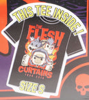 FUNKO POP! TEES RICK & MORTY SHIRT SMALL - THE FLESH CURTAINS TOUR 2018 NEW-EZ Monster Deals