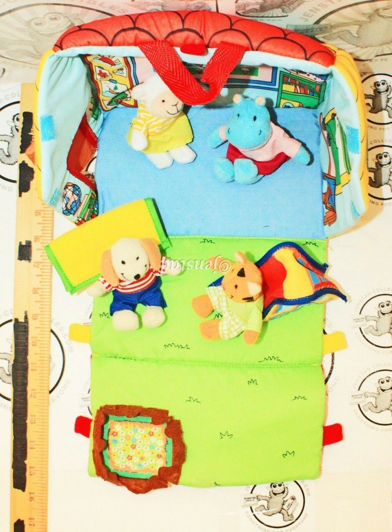 EDU-PETIT TIME FOR SCHOOL - SOFT TOY CLOTH PLAYHOUSE W/ PLUSH FIGURES NEW 2010-EZ Monster Deals