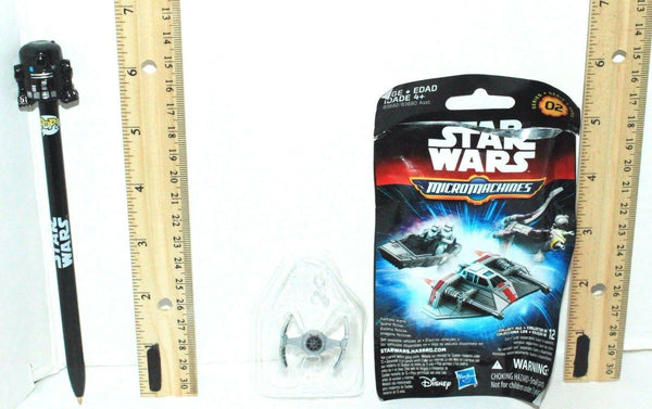 2 LOT STAR WARS MICRO MACHINE MINI TOY VEHICLE + C2-B5 WRITING BLACK INK PEN NEW - EZ Monster Deals