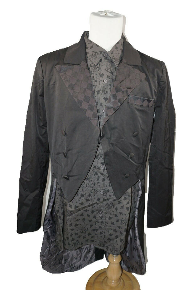 Joker Button Shirt & Tuxedo Jacket Medium - Hot Topic Limited Ed Batman Gotham
