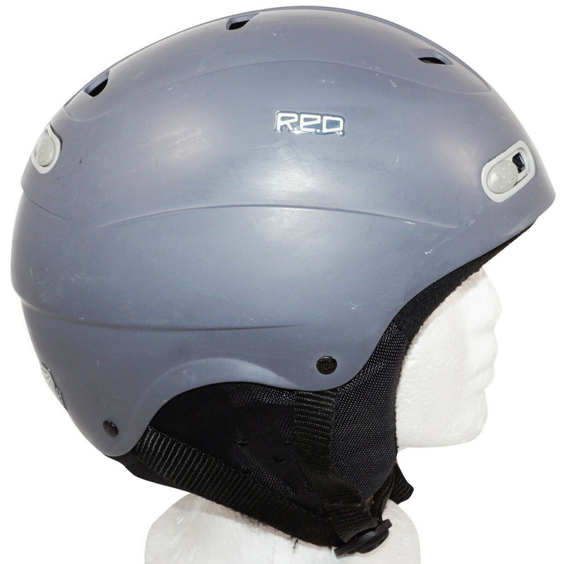 R.E.D. SKYCAP ADULT LARGE GREY MATTE BURTON HELMET FOR SNOW SKI 60 CM HEAD SIZE - EZ Monster Deals