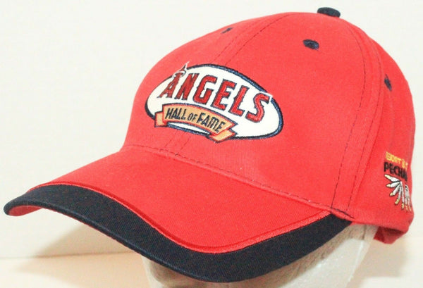 LOS ANGELES ANAHEIM ANGELS - HALL OF FAME PECHANGA CASINO RED CAP HAT ONE SIZE - EZ Monster Deals