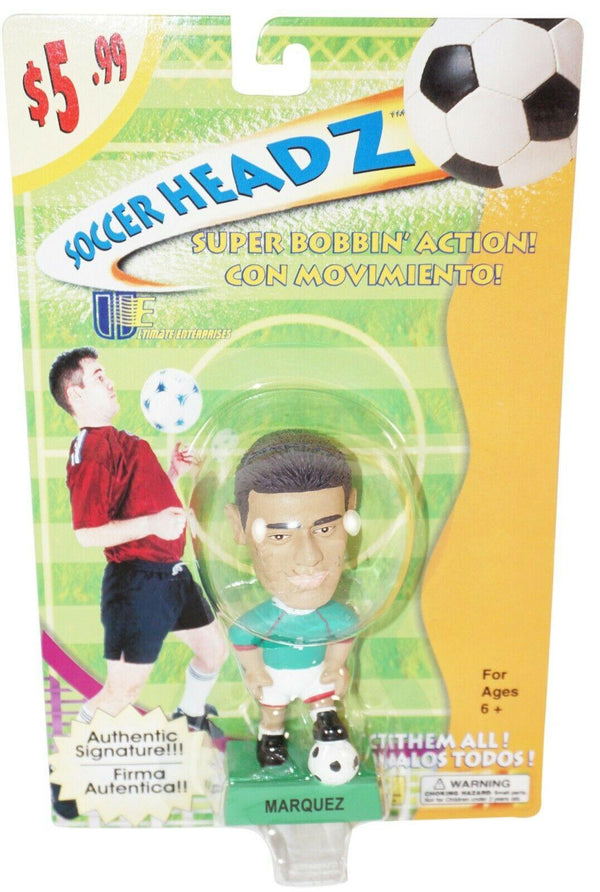 "RAFAEL MÁRQUEZ TEAM MEXICO SOCCER HEAD - FÚTBOL 4"" BOBBLE TOY FIGURE 2002 NEW - EZ Monster Deals"
