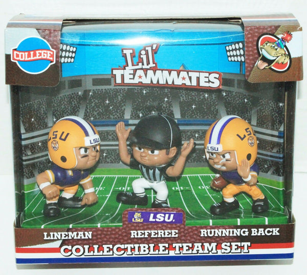 "LSU TIGERS LOUISIANA STATE NCAA LIL TEAMMATES 3 PACK FOOTBALL TOY 2.5"" NEW-EZ Monster Deals"