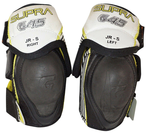 "GRAF G45 JUNIOR SMALL - KIDS JR 45 ELBOW GUARD HOCKEY PADS USED VINTAGE 4'-4'8"" - EZ Monster Deals"
