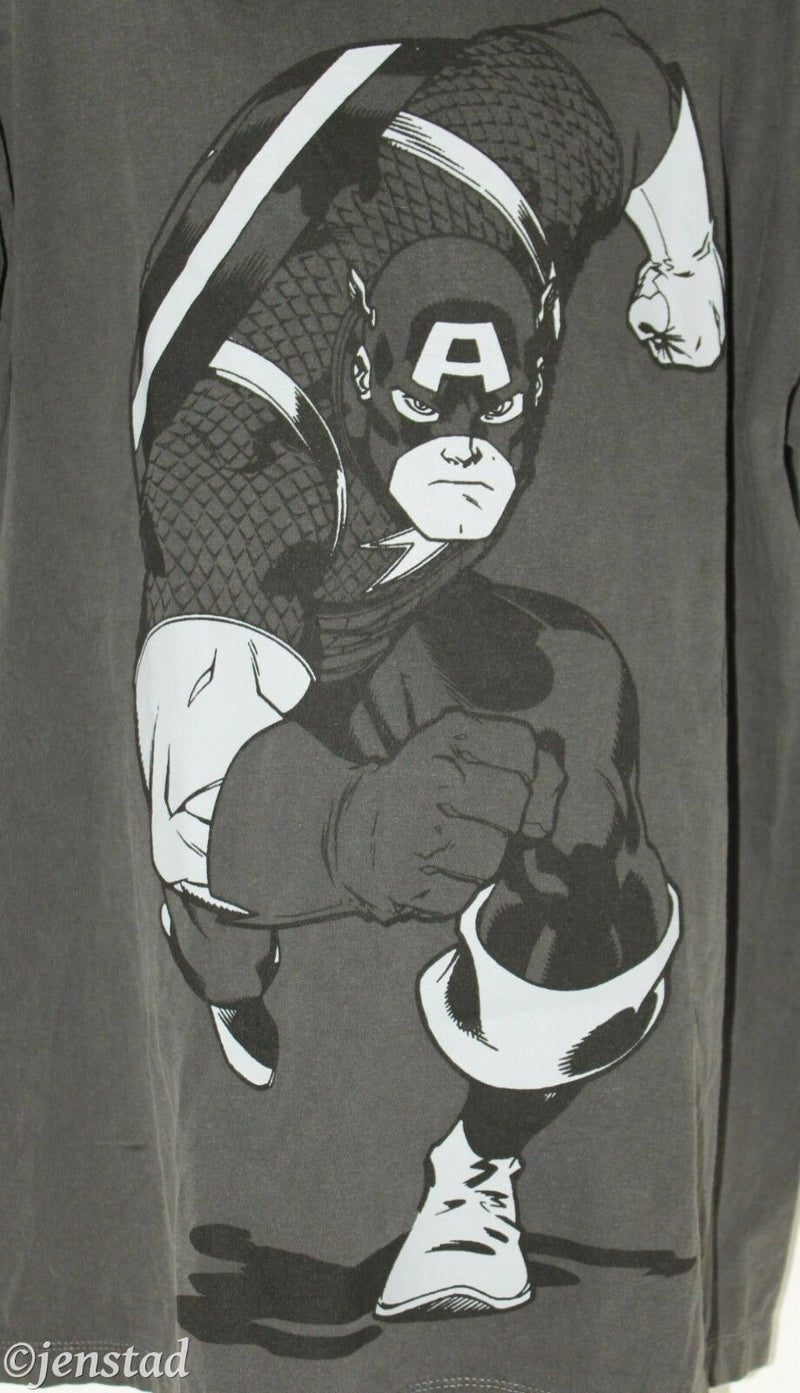 CAPTAIN AMERICA YOUTH BOY LARGE OR GIRL GREY SHIRT WOMAN SMALL RARE SAMPLE 2012-EZ Monster Deals