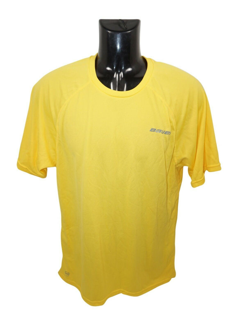 BAUER HOCKEY LOGO'D TRAINING 37.5 PREMIUM TEE - YELLOW SR XL SHIRT ADULT XLARGE - EZ Monster Deals