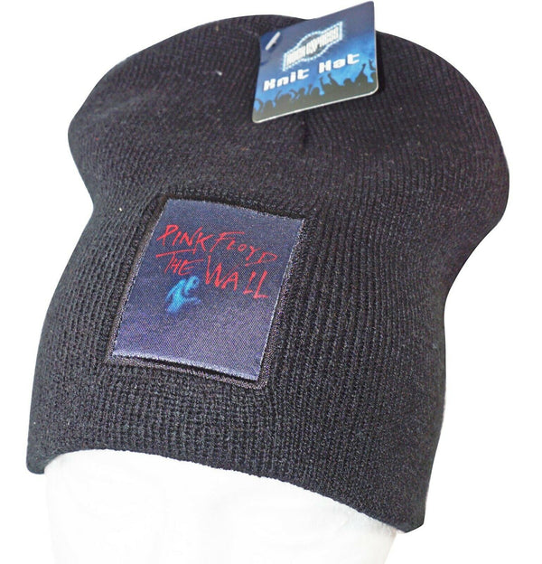 PINK FLOYD ROCK BAND - THE WALL KNIT BEANIE CAP HAT W/ PATCH OFFICIAL NEW 2010