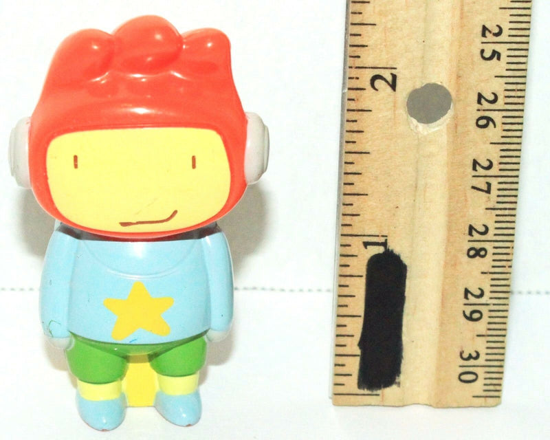 "MAXWELL - SCRIBBLENAUTS UNLIMITED 2.25"" TOY FIGURE CARL'S JR 2012 RARE ITEM USED - EZ Monster Deals"