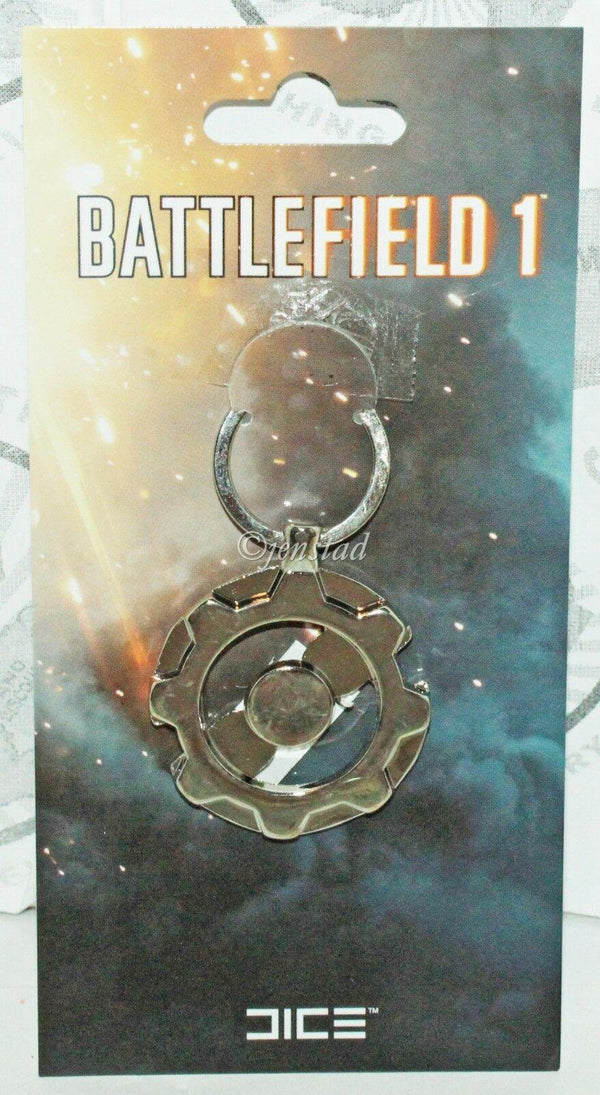 BATTLEFIELD 1 FRONTLINE SILVER SYMBOL KEYCHAIN - VIDEO GAME ACCESSORY NEW 2016 - EZ Monster Deals