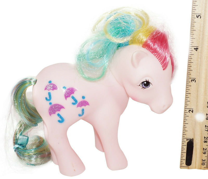 "PARASOL MY LITTLE PONY RAINBOW COLLECTION 4.25"" PINK HORSE RETRO TOY FIGURE 2007-EZ Monster Deals"