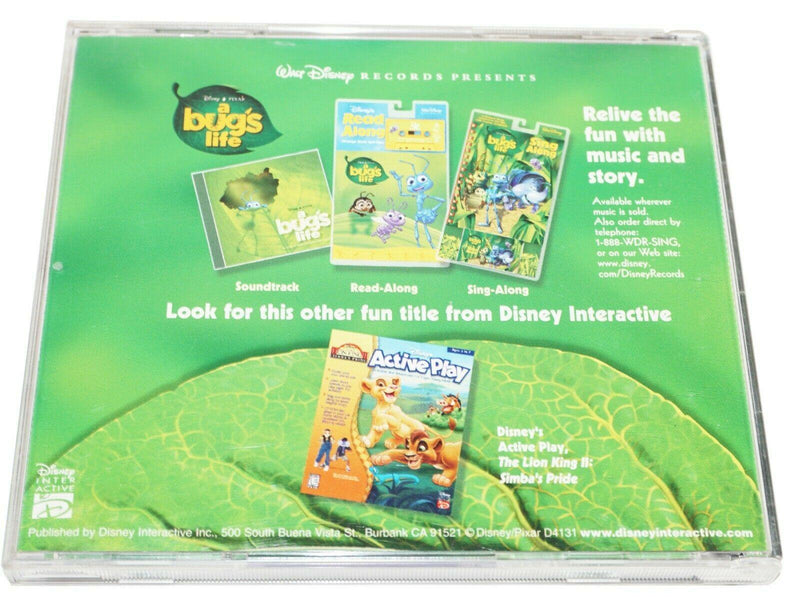 DISNEY'S A BUG'S LIFE - ACTIVE PLAY PC COMPUTER CD VIDEO GAME 1998 USED - EZ Monster Deals