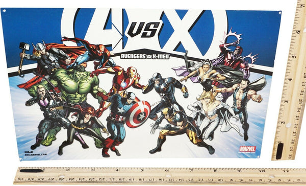 AVENGERS VS X-MEN MINI PROMO POSTER - FROM MARVEL COMIC BOOK AVX 2012 USED-EZ Monster Deals