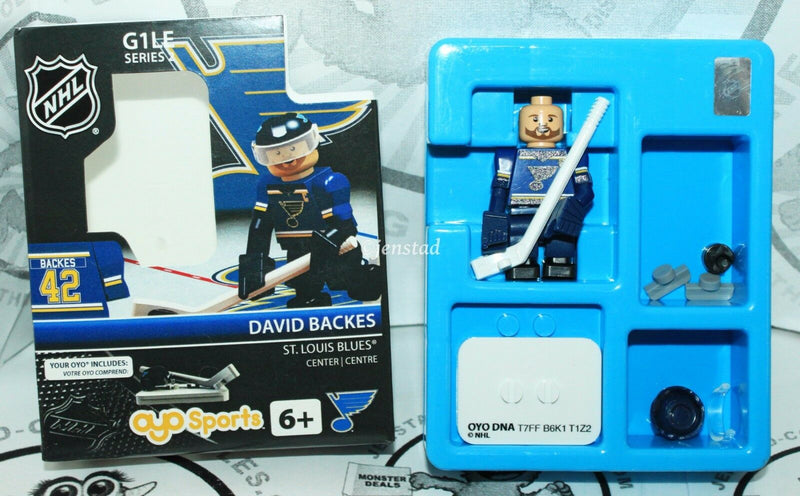 DAVID BACKES HOME JERSEY G1 S2 - OYO SPORTS ST.LOUIS BLUES NHL MINI TOY FIGURE-EZ Monster Deals