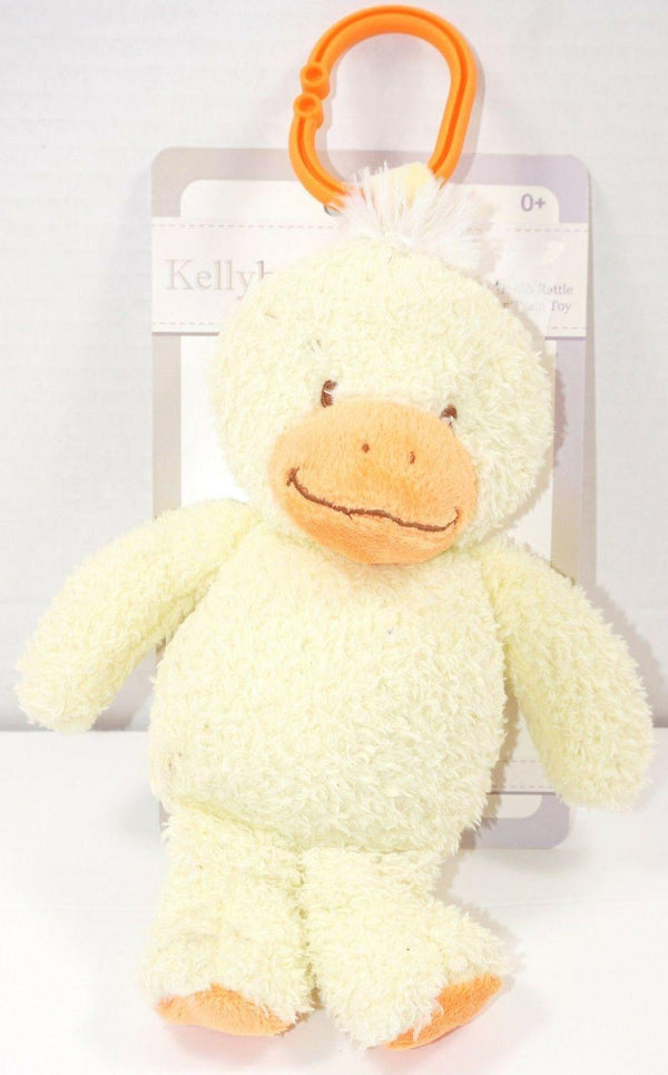 DUCK PLUSH W/ RATTLE & LINK CLIP TOY - VERY SOFT KELLY TOYS STUFFED ANIMAL 2017 - EZ Monster Deals
