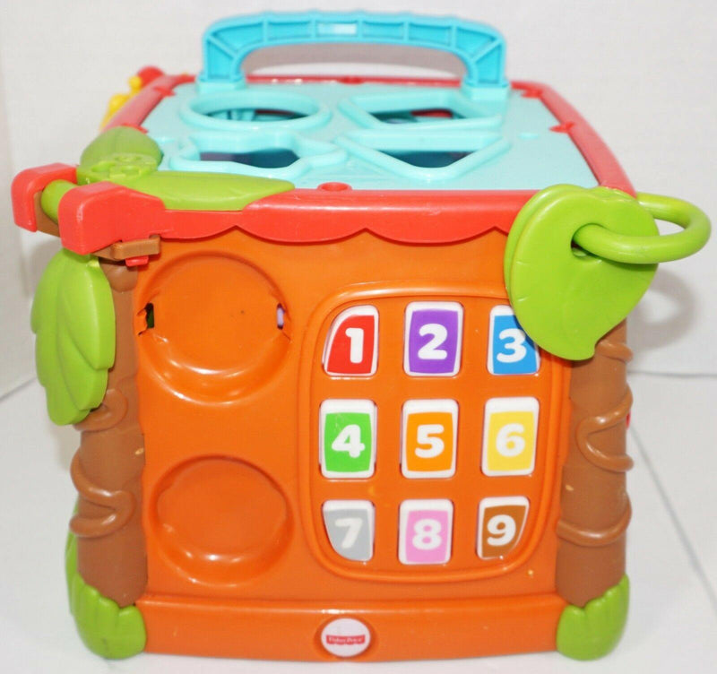 FISHER PRICE PLAY & LEARN ACTIVITY CUBE - LEARNING & EDUCATIONAL BABY TOY USED - EZ Monster Deals