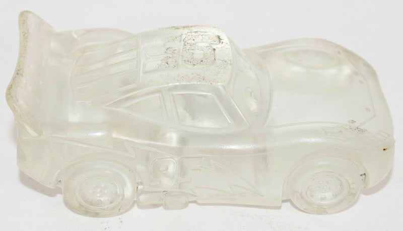 LIGHTNING MCQUEEN CLEAR TRANSPARENT - CARS TOY VEHICLE FIGURE DISNEY PIXAR USED