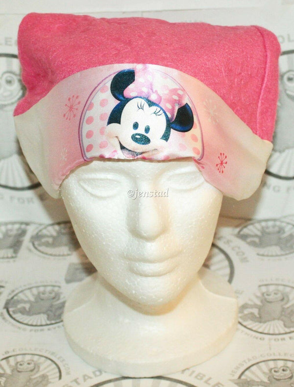 "MINNIE MOUSE PINK SANTA HAT CHRISTMAS CASUAL COSPLAY DISNEY 15.5"" WOMENS GIRLS-EZ Monster Deals"