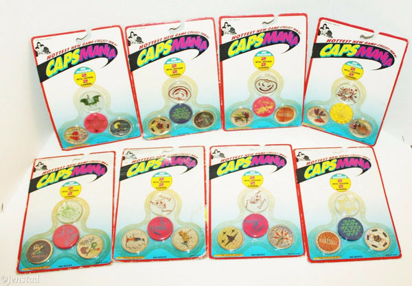 8 PACK LOT CAPSMANIA MILK CAP MANIA GAME PIECES 16 METAL CRUSHER & SLAMMER 1990s - EZ Monster Deals