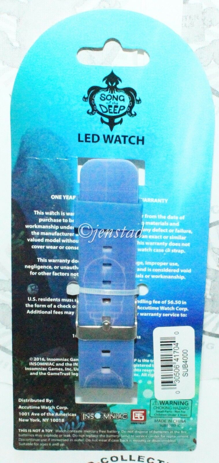 SONG OF THE DEEP BLUE LED VINYL WRIST WATCH VIDEO GAME MERCHANDISE APPAREL 2016