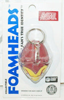 "NCAA ARIZONA STATE SUN DEVILS FOAMHEAD 2"" FOAM  HEAD TOY FIGURE KEYCHAIN NEW"