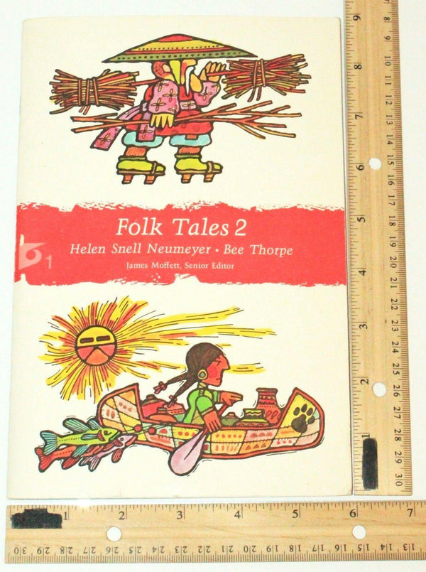 FOLK TALES 2 CHILDRENS PAPERBACK BOOK - HELEN SNELL NEUMEYER & BEE THORPE 1973 - EZ Monster Deals