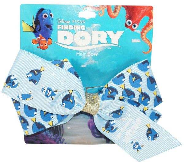 DISNEY'S FINDING DORY I AM FLUENT IN WHALE BLUE HAIR BOW RIBBON + CLIP NEW 2016 - EZ Monster Deals